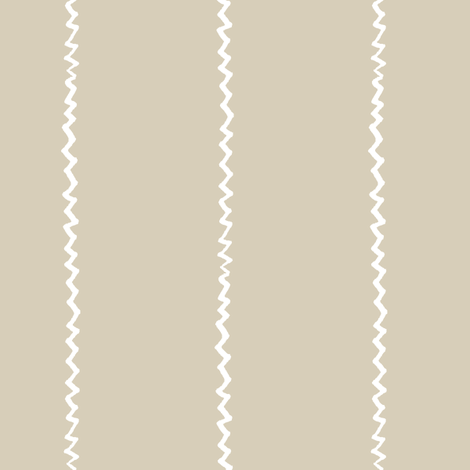 wonky zig zag - sand and white fabric by ali*b on Spoonflower - custom fabric