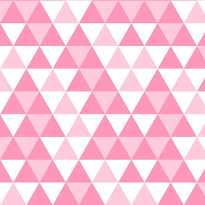 Triangles Pinks White