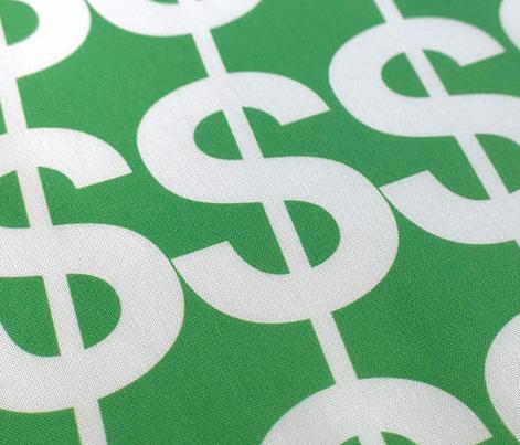 Bling (Preppy Green) || jumbo oversize large scale dollar signs money fortune bank upscale rich success millionaire billionaire hip hop