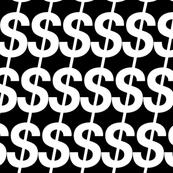 Bling (Black & White) || jumbo oversize large scale dollar signs money fortune bank upscale rich success millionaire billionaire hip hop