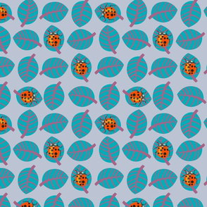 Lady bug - orange and teal