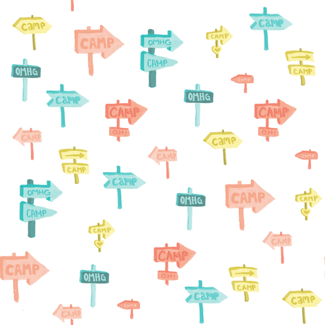 Heading To Camp OMHG fabric by joyfulroots on Spoonflower - custom fabric