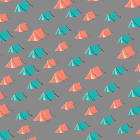 Camp Tents fabric by joyfulroots on Spoonflower - custom fabric