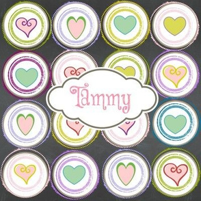 Badge of Hearts-personalized strawberry