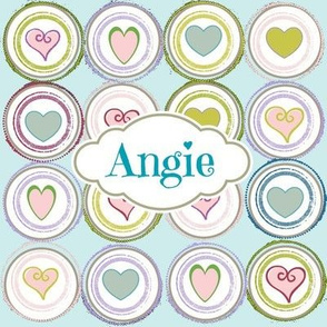Badge of Hearts-Sea Glass Personalized