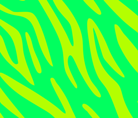 Green Zebra fabric by angelandspot on Spoonflower - custom fabric