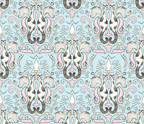 softly bob damask fabric by beesocks on Spoonflower - custom fabric