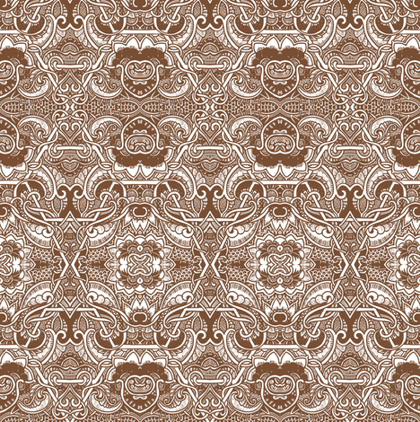 Hearts and Chocolate fabric by edsel2084 on Spoonflower - custom fabric
