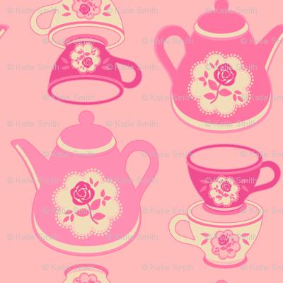 Tea Set Pink