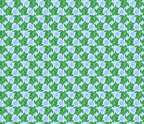 Batik Turtles Green fabric by eppiepeppercorn on Spoonflower - custom fabric