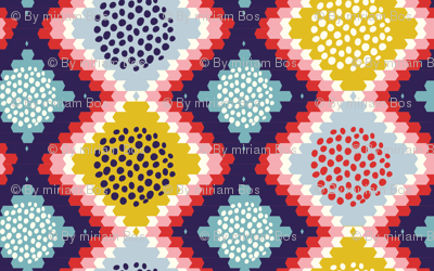 Native geometric pattern - with yellow
