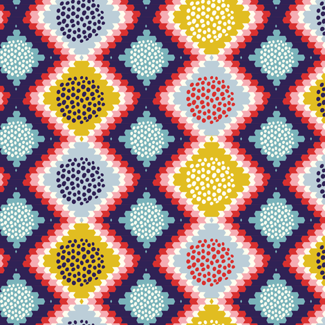 Native geometric pattern - with yellow fabric by irrimiri on Spoonflower - custom fabric
