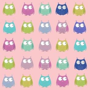 Hootin Owls-Pink