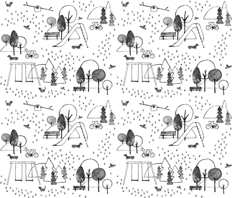 Neighborhood playground  fabric by heleenvanbuul on Spoonflower - custom fabric
