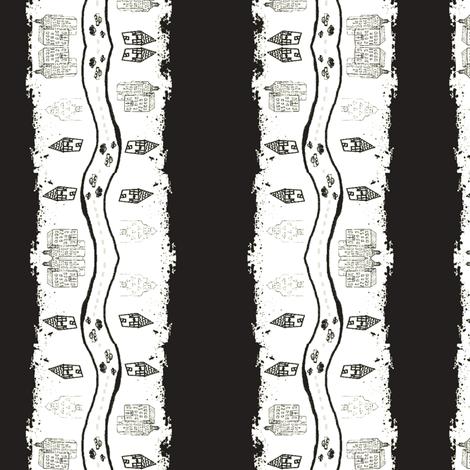 city stripes-blk wht-tie dye fabric by drapestudio on Spoonflower - custom fabric