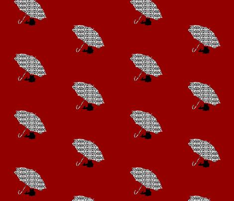 Catbrella fabric by threading_needles on Spoonflower - custom fabric