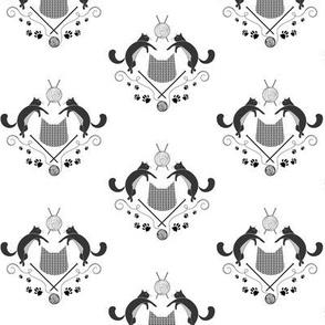 Kats Knitting - Black + White