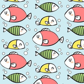 Fish and Bubbles! in colour