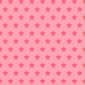 Hot Pink Stars on Pink - Small