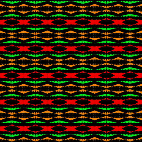Tribal Beads fabric by eve_catt_art on Spoonflower - custom fabric