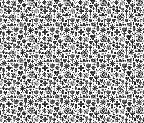 Sketch Flowers fabric by kostolom3000 on Spoonflower - custom fabric