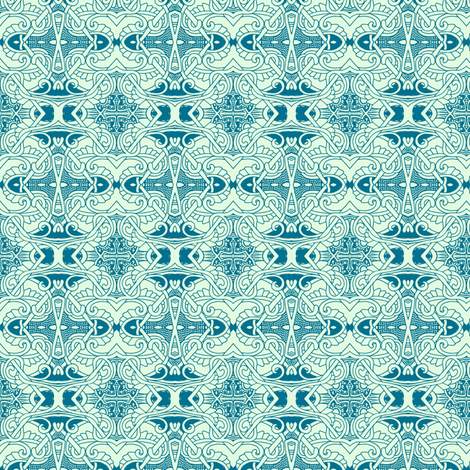 Mint Tangled Diamond fabric by edsel2084 on Spoonflower - custom fabric