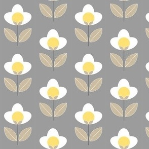 Tulip Grey and Yellow