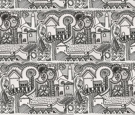 neighbourhood fabric by marquesa on Spoonflower - custom fabric
