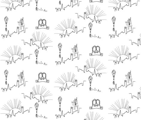 Neighborhood fabric by svaeth on Spoonflower - custom fabric