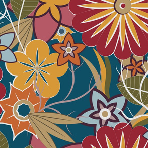 Jungle of Autumn Flowers (Main Print 1)