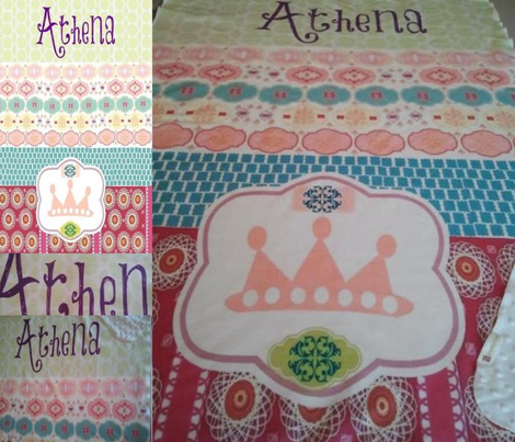 Morocco 2 Princess Quilt  LG - Personalized
