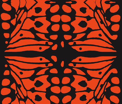 Orange Wings fabric by whimzwhirled on Spoonflower - custom fabric