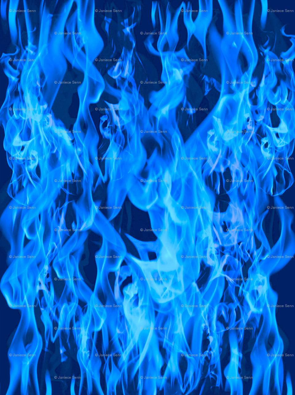 blue flames fabric whimzwhirled spoonflower