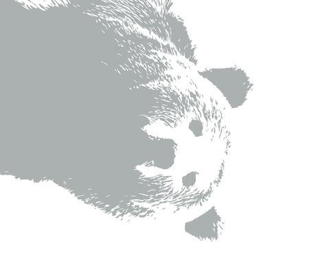 """Grey Bear // 1 yard cut (42"""" width) fabric by littlearrowdesign on Spoonflower - custom fabric"""