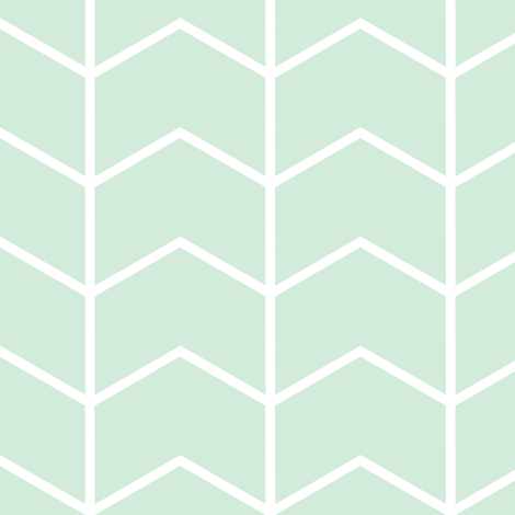 chevron // mint - Woodland Collection fabric by littlearrowdesign on Spoonflower - custom fabric