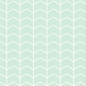 chevron // mint - Woodland Collection
