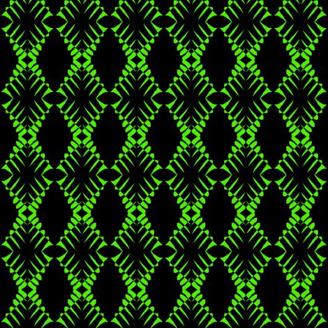 Zebras Green Black fabric by eve_catt_art on Spoonflower - custom fabric