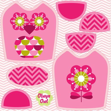 mini owl pink fabric by cjldesigns on Spoonflower - custom fabric