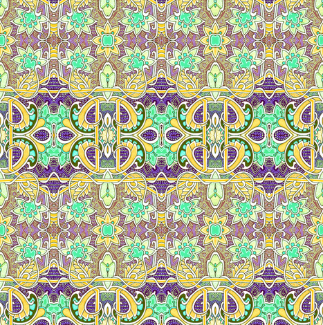 Along the Fence fabric by edsel2084 on Spoonflower - custom fabric