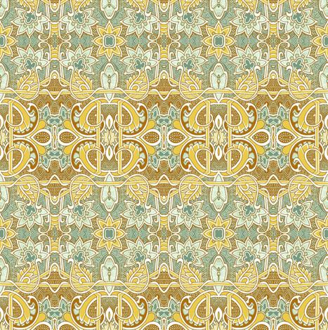 Foggy Spring Morning (horizontal stripe) fabric by edsel2084 on Spoonflower - custom fabric