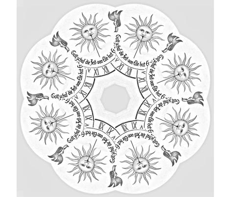 sun_clock-ed-ed-ed fabric by frau-h on Spoonflower - custom fabric