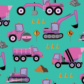 Roadworks Scatter - Pink & Teal