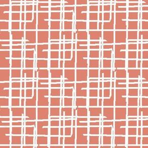 Weave pattern, terracotta