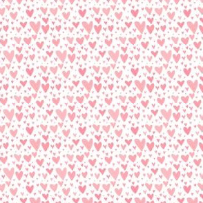 Tiny Hearts Scatter - Baby Pink