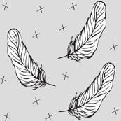 grey white feather - elvelyckan