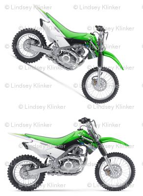 Green Dirt Bike