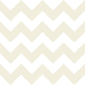Cream on White Chevron - Medium
