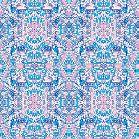 Love in Pink and Blue fabric by edsel2084 on Spoonflower - custom fabric