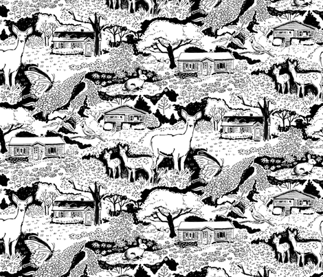 My Bloomington B&W larger fabric by vinpauld on Spoonflower - custom fabric