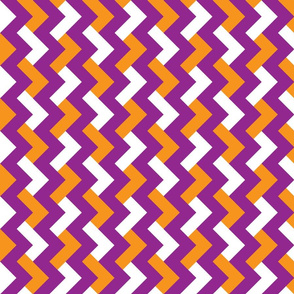 Purple & Orange Crossed Chevron